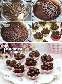 Coco Pops Balls Recipe with Metro, How To? - Womanly Recipes - Delicious, Practical and Delicious Food Recipes Site - Coco Pops Balls Recipe with Metro - Cake Recipes, Dessert Recipes, Ww Recipes, Most Delicious Recipe, Yummy Food, Tasty, Recipe Sites, Mini Desserts, Easter Desserts