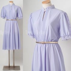 Vintage Dress Vintage purple dress Lavender dress 70s dress Aline dress - M/L/XL