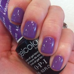 Nails: OPI GelColor in A Grape Fit by Patricia at Salon Gilbert, Miami