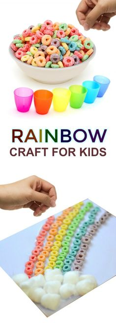 CEREAL RAINBOW: CRAFT FOR KIDS (great for all ages!) #kidscrafts #rainbowcrafts #kidsactivities