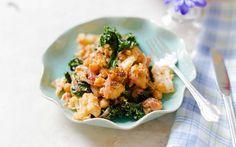 Warm Cauliflower, Chickpea, Kale, and Harissa Salad [Vegan, Gluten-Free]   One Green Planet
