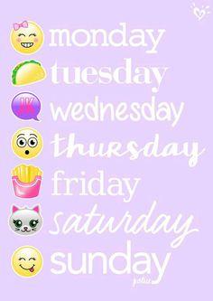 Emojis en la semana