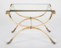 Neoclassical Gilt Bronze Side Table with Rams Heads and Hoof Feet, Maison Jansen For Sale at Brass Side Table, Modern Side Table, Side Tables, Iron Coffee Table, Steel Coffee Table, French Mirror, Roman Art, Neoclassical, Ancient Romans