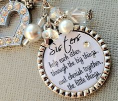 SISTER gift PERSONALIZED keychain/ purse clip  wedding by buttonit, $25.00