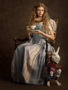 This French photographer reimagined our favorite superheroes as 16th century art. | Dearest Geeks of Earth #comicbooks #superheroes #SachaGoldberger #AliceinWonderland