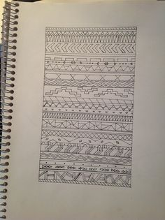 aztec pattern drawing