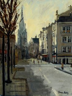Brive, Winter Light Winter Light, France, Cityscapes, Pictures, Painting, Art, Photos, Art Background, Painting Art