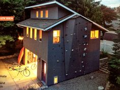 I want a rock climbing wall on the side of my garage...