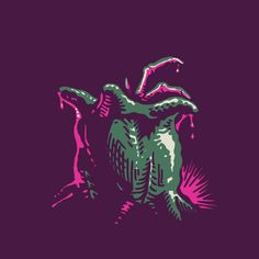 New Born. — Guess the movie … — tattoo, tattoos, inspiration, woodcut, illustration, screenprint, screen print, screenprinting, screen printing, alien, aliens, predator, facehugger, egg — Daily Black & White Illustration