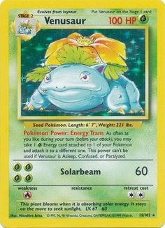 Venusaur 15/102 Holo Rare - Base Set Pokemon Card