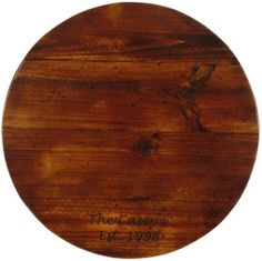 Personalized Stained Pine Wine Barrel Lazy Susan