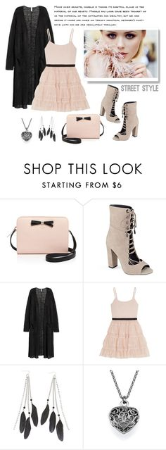 """""""once upon a time i was falling in love"""" by eysari ❤ liked on Polyvore featuring Kate Spade, Kendall + Kylie, H&M, Alice + Olivia and Charlotte Russe"""