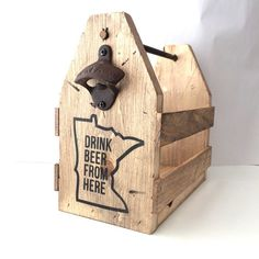 Beer holder, wood beer holder, bottle opener, six pack carrier, craft brew carrier