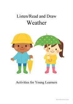 Listen/Read & Draw: Weather worksheets