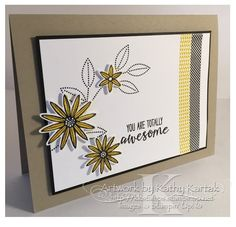 "Simply Awesome! is made with Stampin' Up's ""Grateful Bunch"" stamp set."