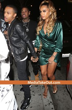 CUTE COUPLE!! Rapper Bow Wow Was Spotted Up In The Club . . . With ALL HIS BOYS . . . And His Fiance Erica Mena!!!
