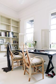 modern meets traditional office