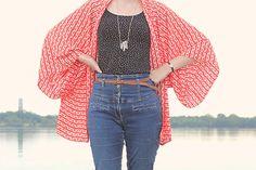 DIY: Leichter Kimono-Cardigan | tagtraeumerin - Gratis Schnittmuster und Anleitung - free pattern