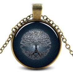 Tree of Life 3D Necklace - Help stay calm and remain grounded with this original Tree of Life pendant, made more powerful by stunning three-dimensional artwork.  The Tree of Life is a powerful and universal spiritual symbol.  Various religions use the image of the tree.  The Buddha became enlightened under the tree.  Adam and Eve ate from it.  Other spiritual traditions consider trees to be sacred.