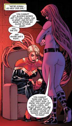 Captain Marvel & Medusa