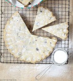 Mary Berry Cranberry and white chocolate shortbread
