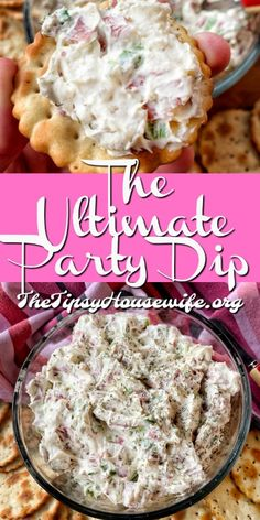 Ultimate Party Dip Classic dip recipe using savory beef, creamy cheese and green onions. This is also a perfect bagel The Ultimate Party Dip Classic dip recipe using savory beef, creamy cheese and green onions. This is also a perfect bagel Bagel Toppings, Dessert Party, Quick Dessert, Appetizer Dips, Appetizers For Party, Simple Appetizers, Snacks For Party, Superbowl Party Food Ideas, Best Appetizer Recipes