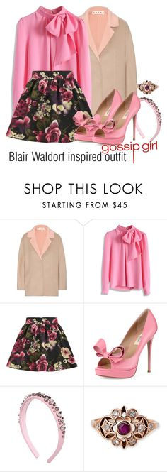 """""""Blair Waldorf inspired outfit/GG"""" by tvdsarahmichele ❤ liked on Polyvore featuring Marni, Chicwish, Girls On Film, Valentino and RED Valentino"""