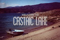 Castaic Lake, postcards by Vince Soliven