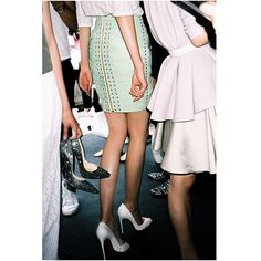 """#backstage #models #marinahoermanseder #springsummer16 #thankyou @materialgirlmagazine #heels #love @louboutinworld"" Photo taken by @marinahoermanseder on Instagram, pinned via the InstaPin iOS App! http://www.instapinapp.com (07/30/2015)"