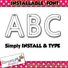 Tracing Fonts, Dot fonts, Pattern Fonts and more on this Growing Mega Bundle English Alphabet, Letter Formation, Pattern Blocks, Fonts, Commercial, Teaching, Lettering, Kids, Designer Fonts