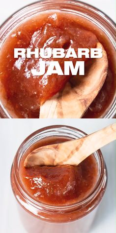 How to make Rhubarb Jam - Rhubarb Jam Recipe – French Rhubarb preserve recipe prepared with fresh stalks, all natural witho - Rhubarb Desserts, Rhubarb Cake, Rhubarb Jam Recipes Easy, Rhubarb Ideas, Rhubarb Jelly, Rhubarb Muffins, Yellow Squash Recipes, Jam And Jelly, Jelly Recipes