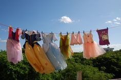 laundry day... oh to be six years old again. Isla Mujeres, Mexico.