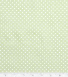 Nursery Baby Basic- Dots White on Green : nursery fabric : fabric :  Shop | Joann.com