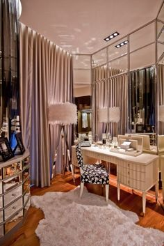 One sexy area to get ready in... My dream closet/ makeup room