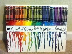 Crayon art! Melt the crayons and get pretty designs!