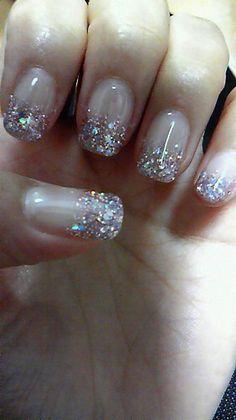 cute, fashion, glitter, long nails... Would be PERFECT wedding nails!!