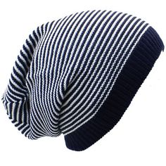 c8475db97b5 AN Beanie for Men Unique Hats for Womens Fashion Navy Blue   White.