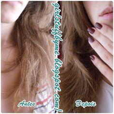 Antes e depois da minha máscara de cabelo caseira