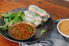 Three Herb and Prawn Cold Rolls with Double Dipping Sauces — Farm to Fork Black Eyed Pea Salad, Cauliflower Sauce, Oven Vegetables, Homemade Sauerkraut, Pickled Cabbage, Healthy Sauces, Cold Rolled, Sweet Chilli, Great Appetizers