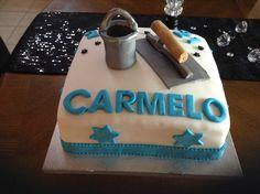 Plasterers cake with bucket and trowel Recherche Google, Birthday Cakes, Cake Ideas, Desserts, Bucket, Food, Hipster Stuff, Tailgate Desserts, Deserts