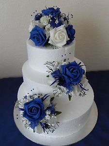 Silk flowers for wedding cakes uk