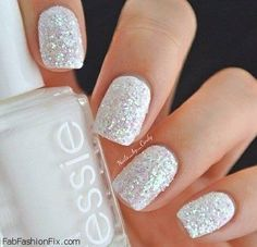 White nails done right. Love this!