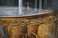 The Partita detail oil on canvas Cyprian Nocoń Nocon 140x190cm 2018