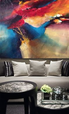 """Space Odisey"" Painting by Dan Bunea - Living abstract paintings Available at Studio ""Citadela Artelor"" www.danbunea.ro"