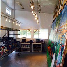 My new studio space in Qualicum Bay.