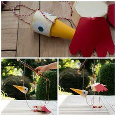 Hjemmelavet marionetdukke