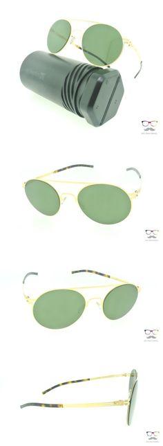 Other Unisex Eyewear 179246: Ic! Berlin Sunglasses Hubert W. Matt Gold Green Lenses Round Metal Frames -> BUY IT NOW ONLY: $229 on eBay!