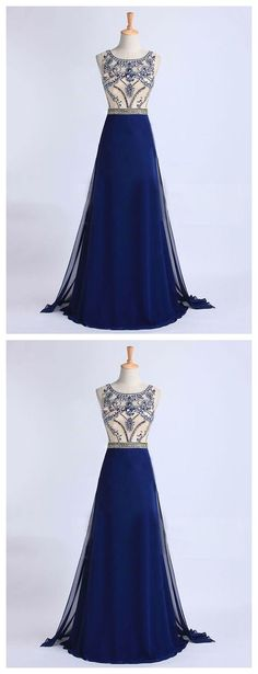 Beading Real Made Prom Dresses