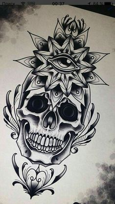 Love the dark shade Skull Tattoo Flowers, Skull Tattoos, Leg Tattoos, Flower Tattoos, Arm Tattoo, Black Tattoos, Body Art Tattoos, Sleeve Tattoos, Cool Tattoos