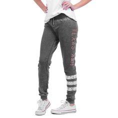 Texas A&M Aggies chicka-d Women's Varsity Stripe Sweatpants - Gray